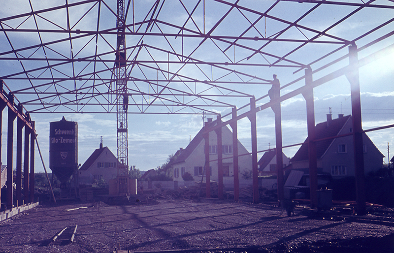 1961 Bau Fabrikhalle Illertissen