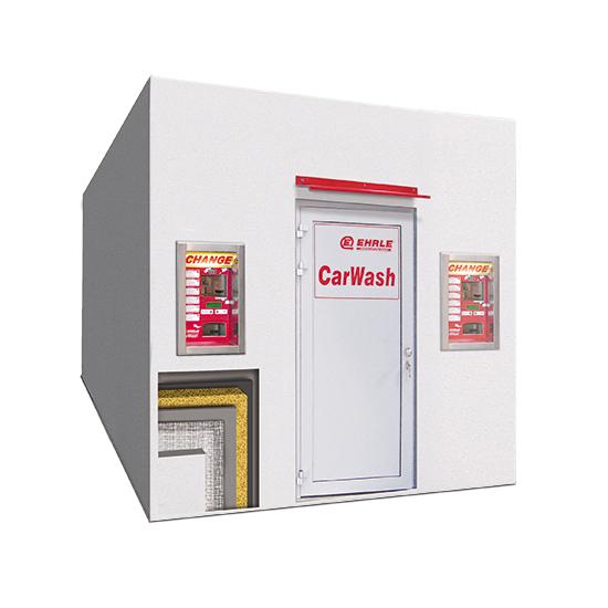 EHRLE Beton Fertigteil Technik Container mit Vollwärmeschutz